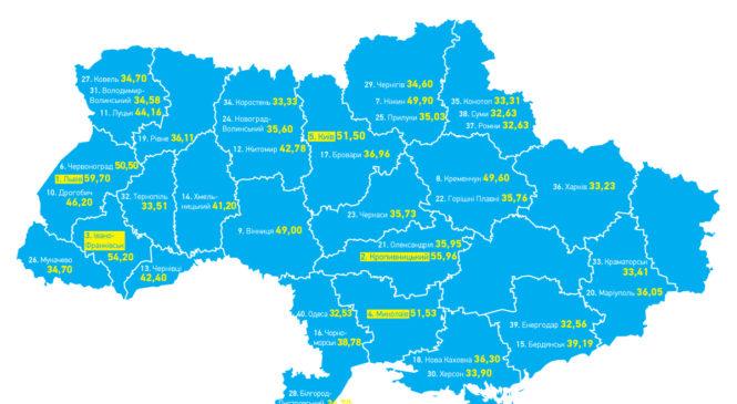 Експерти склали рейтинг найбільш прозорих міст країни за 91 показником у 13-ти сферах